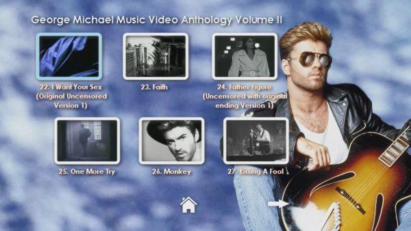 George Michael Music Video Anthology Vol. II MENU Page 2 of 5