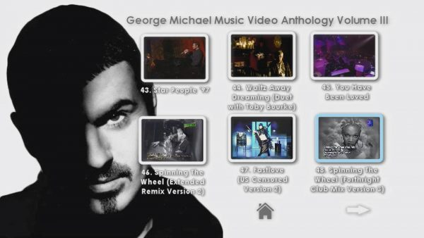 George Michael Music Video Anthology Vol. III MENU Page 2 of 5