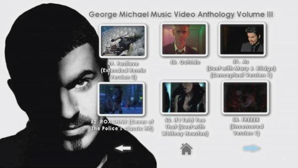 George Michael Music Video Anthology Vol. III MENU Page 3 of 5