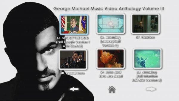 George Michael Music Video Anthology Vol. III MENU Page 4 of 5