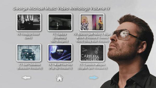George Michael Music Video Anthology Vol. IV MENU Page 3 of 5