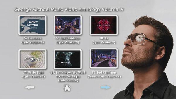 George Michael Music Video Anthology Vol. IV MENU Page 4 of 5