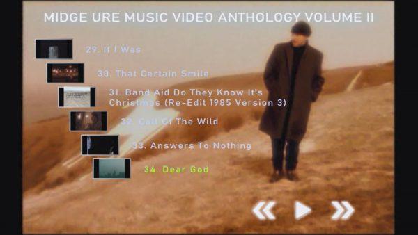 MIDGE URE Music Video Anthology Volume II Menu Page 2 of 4