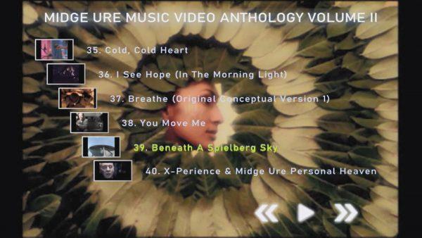 MIDGE URE Music Video Anthology Volume II Menu Page 3 of 4