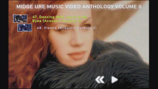 MIDGE URE Music Video Anthology Volume II Menu Page 4 of 4