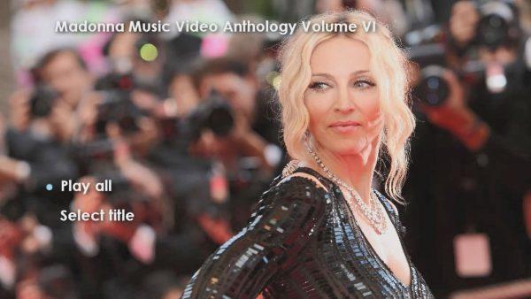 Madonna Anthology Volume VI Menu Page 1