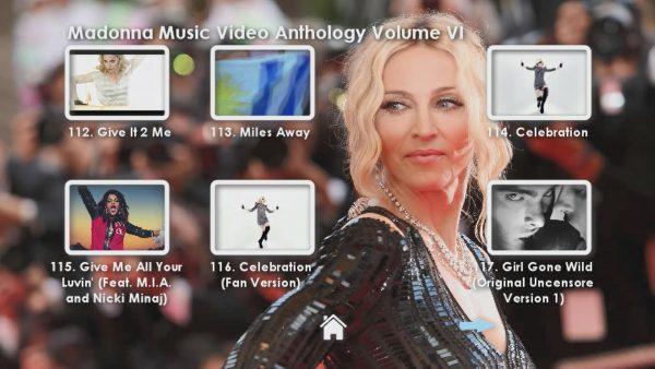 Madonna Anthology Volume VI Menu Page 2