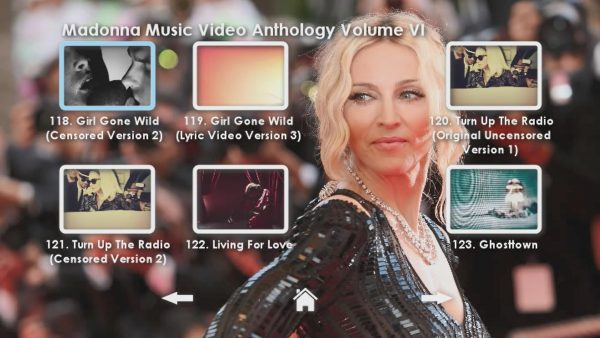 Madonna Anthology Volume VI Menu Page 3