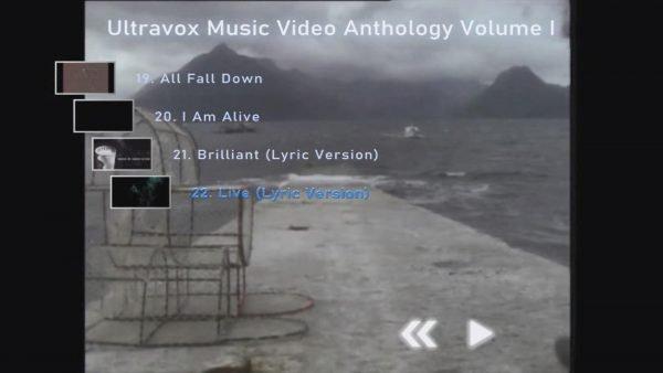 ULTRAVOX Music Video Anthology Volume I Menu Page 4 of 4