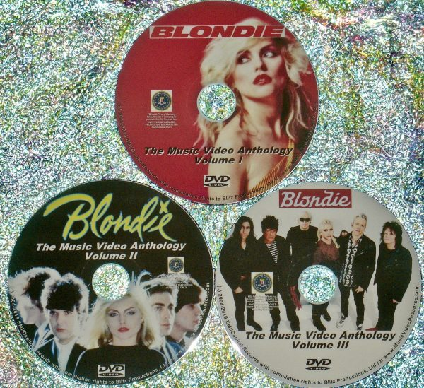 Blondie and Debbie Harry (Solo) The Music Video Anthology 1982-2017 3 DVD Set (67 Music Videos)