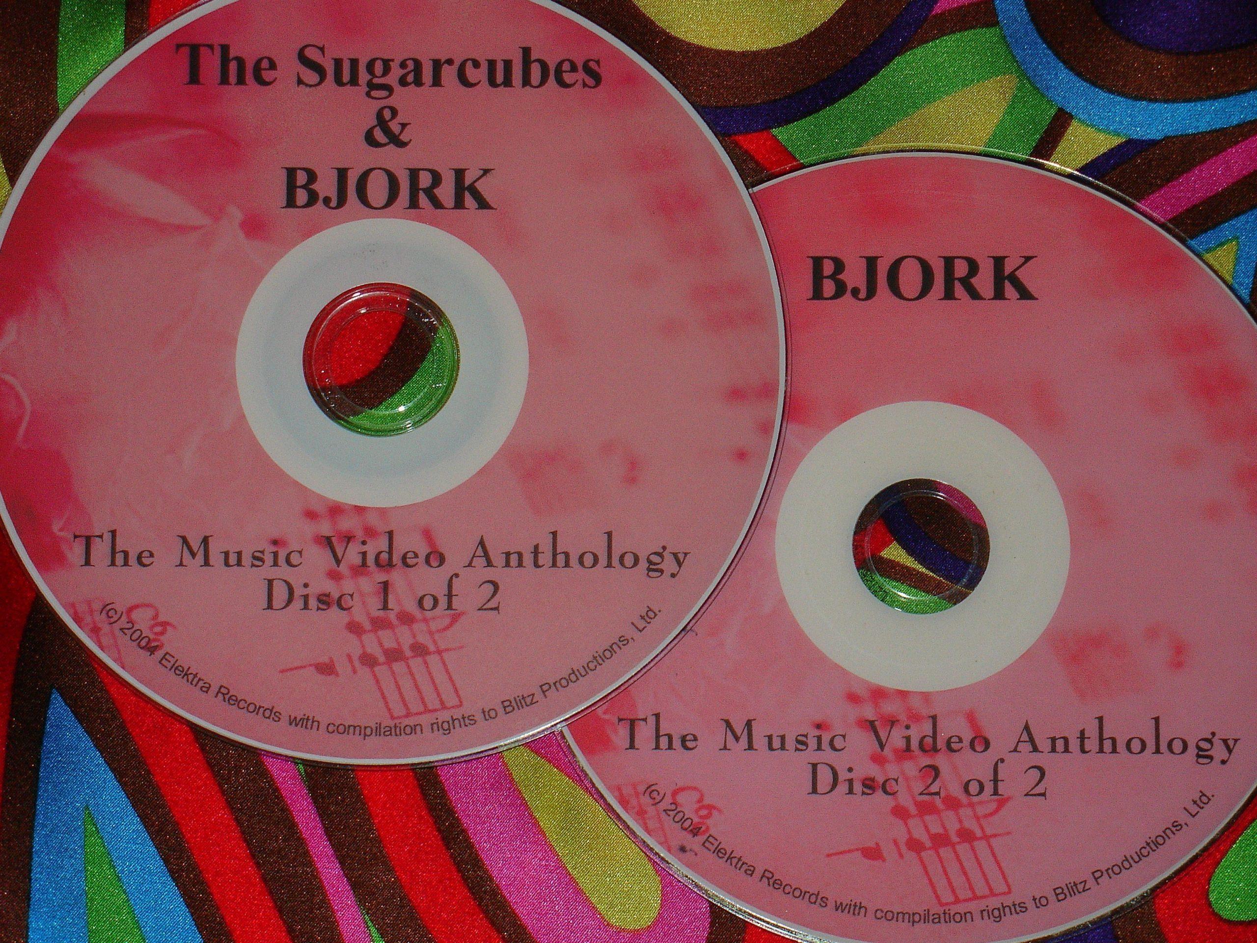 Bjork & Sugar Cubes Music Video Anthology 1986-2011 (2 DVD Set 2 Hours 50 Minutes)