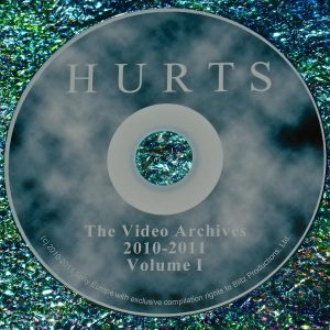 HURTS (Theo Hutchcraft & Adam Anderson) THE VIDEO ARCHIVES 2010-2011 VOLUME I DVD