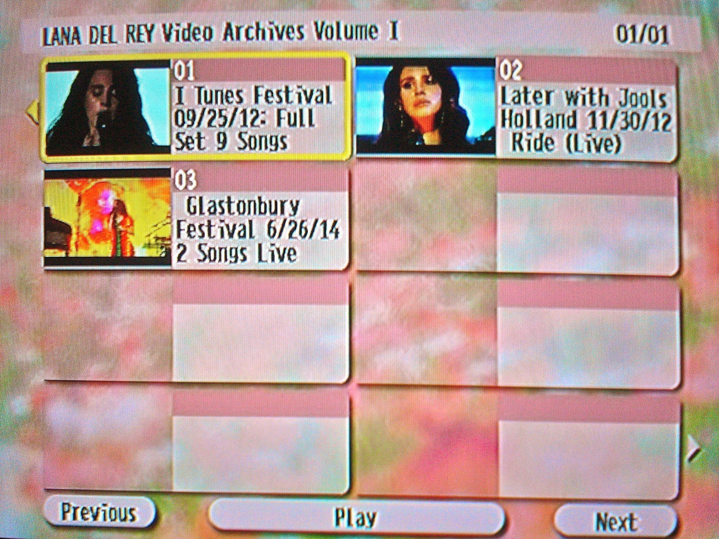 LANA DEL REY The LIVE Video Archives 2012-2014 Volume I