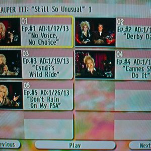 "Cyndi Lauper The Video Archives 2013 Volume III (""Still So Unusual"" Season 1 Disc 1 of 3)"