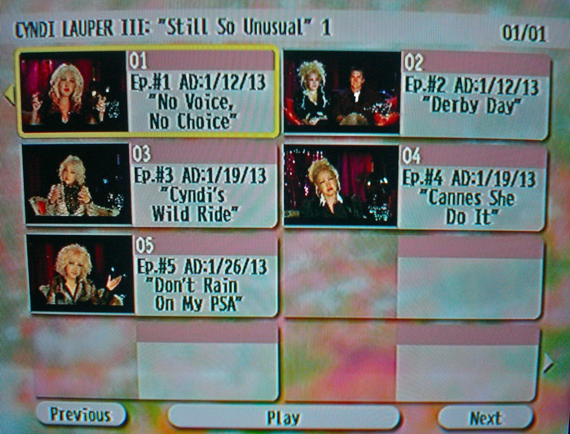 "Cyndi Lauper The Video Archives 2013 Volume III (""Still So Unusual"" Season 1 Disc 1 of 3)"