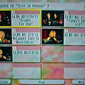 "Cyndi Lauper The Video Archives 2013 Volume IV (""Still So Unusual"" Season 1 Disc 2 of 3)"