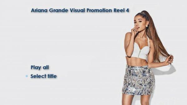 ARIANA GRANDE Music Video Reel 4 DVD Menu Page 1