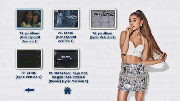 ARIANA GRANDE Music Video Reel 4 DVD Menu Page 4