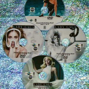 LADY GAGA Visual Marketing MUSIC VIDEO Reel 2008-2020 4 DVD Set 6.5 Hours includes 69 Videos Music Video Anthology