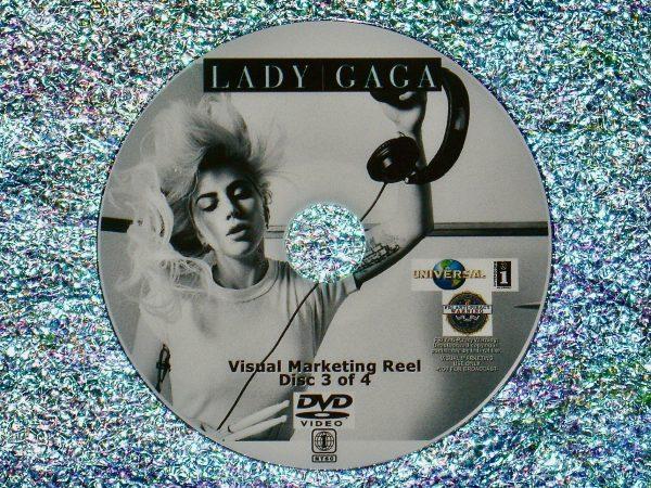 LADY GAGA Visual Marketing MUSIC VIDEO Reel DVD 3