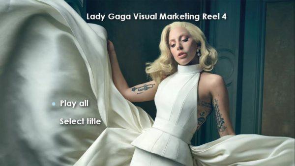 LADY GAGA Visual Marketing MUSIC VIDEO Reel DVD 4 Menu Page 1