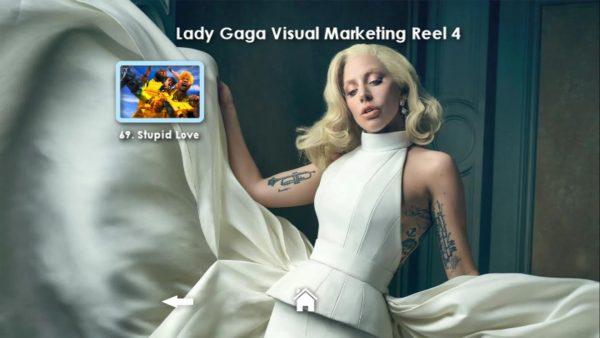 LADY GAGA Visual Marketing MUSIC VIDEO Reel DVD 4 Menu Page 3