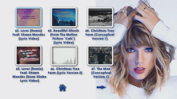 TAYLOR SWIFT Reel 4 DVD Menu Page 2 of 6