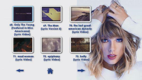 TAYLOR SWIFT Reel 4 DVD Menu Page 3 of 6