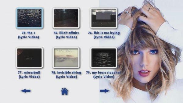 TAYLOR SWIFT Reel 4 DVD Menu Page 4 of 6