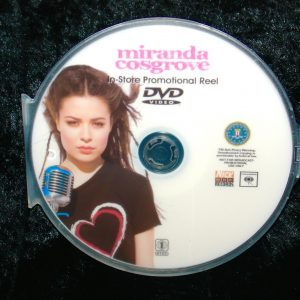 MIRANDA COSGROVE RARE In-Store Promotional Music Video Reel DVD