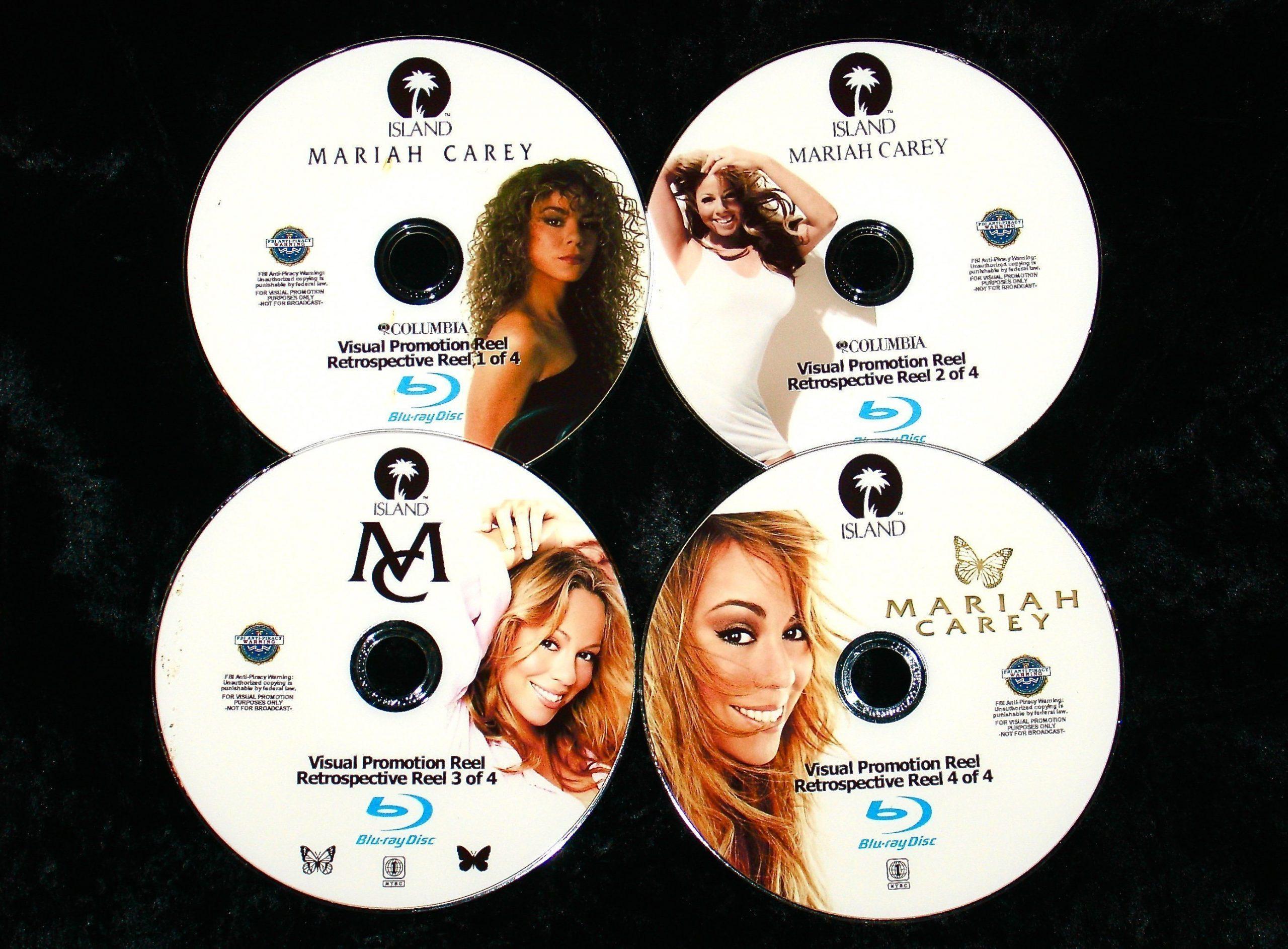 MARIAH CAREY Visual Promotion Reel 83 Music Videos 4 BLU-RAY DVD Set (Blu-Ray Format only) John Legend, Justin Bieber,  Luther Vandross, Jadakiss, Jermaine Dupri, Bone Thugs-n-Harmony, Snoop Dogg, Jay-Z