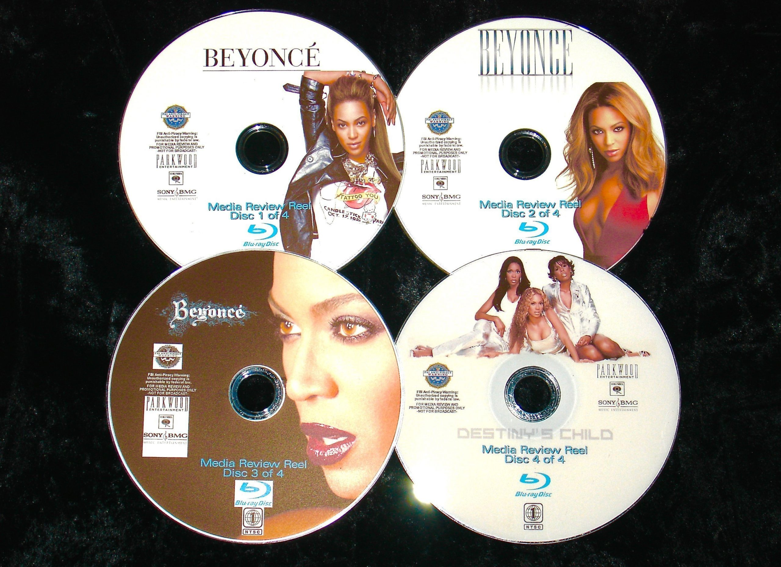 BEYONCE and DESTINY's CHILD Media Reel 77 Music Videos 4 BLU-RAY DVD Set (BLU-RAY FORMAT ONLY) Beyoncé Wyclef Jean, Timbaland, Amil, Jay-Z