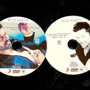 RICKY MARTIN Promotional & Marketing Music Video Reel 2 DVD Set 49 Videos Menudo