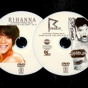 RIHANNA In-Store Promo OVER 40 Music Videos tied Reel 2 DVD Set (DVD Format only)