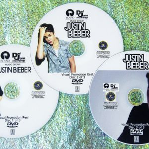 JUSTIN BIEBER Music Video Visual Promotion Reel 3 DVD Set 52 Videos