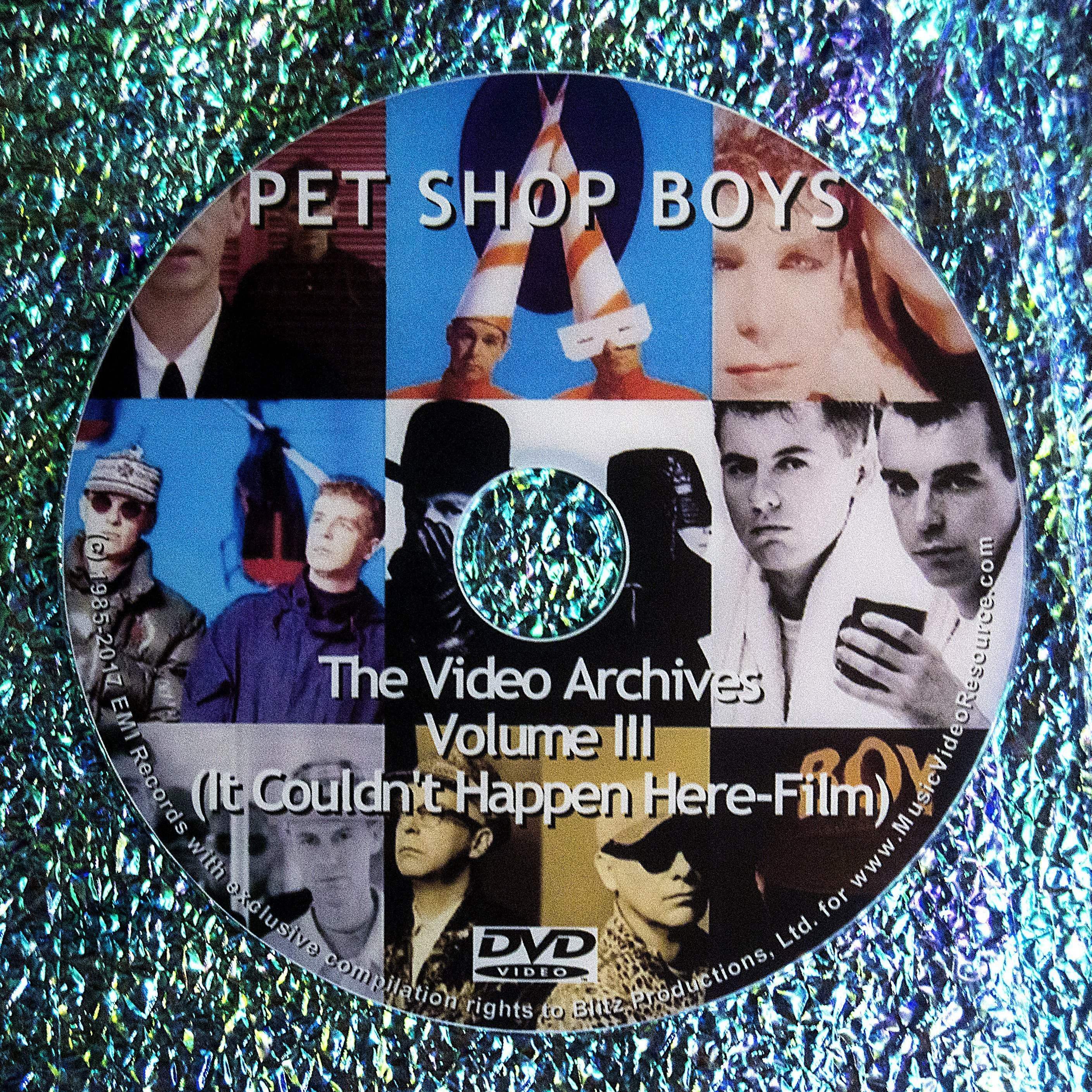 PET SHOP BOYS VIDEO ARCHIVES 2011 VOLUME III (Pet Shop Boys It Couldn't Happen Here 1988 DVD (Available in Region 1 or 2)