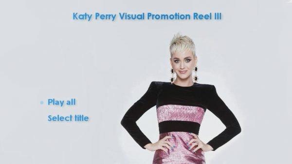 KATY PERRY DVD Reel 3 Menu Page 1