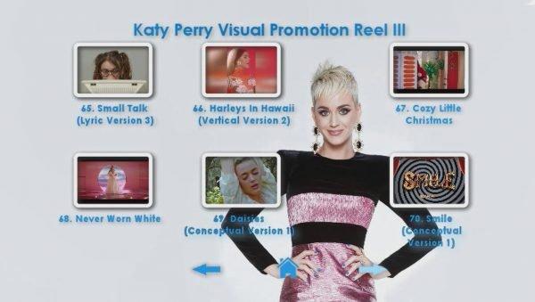 KATY PERRY DVD Reel 3 Menu Page 2