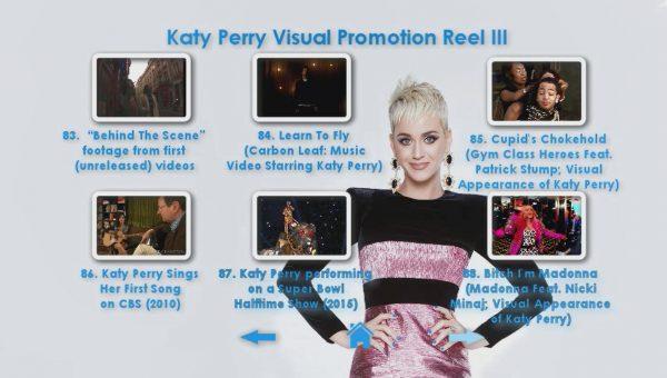KATY PERRY DVD Reel 3 Menu Page 5