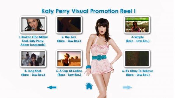 KATY PERRY DVD Reel 1 Menu Page 2