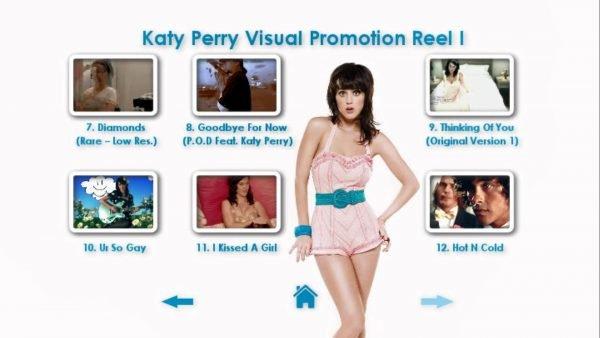 KATY PERRY DVD Reel 1 Menu Page 3