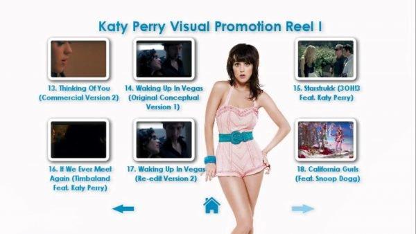 KATY PERRY DVD Reel 1 Menu Page 4