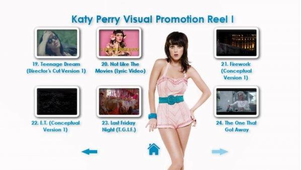 KATY PERRY DVD Reel 1 Menu Page 5