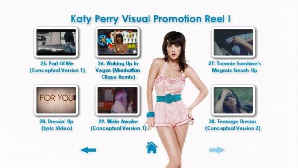 KATY PERRY DVD Reel 1 Menu Page 6