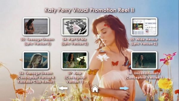KATY PERRY DVD Reel 2 Menu Page 2
