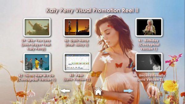KATY PERRY DVD Reel 2 Menu Page 3