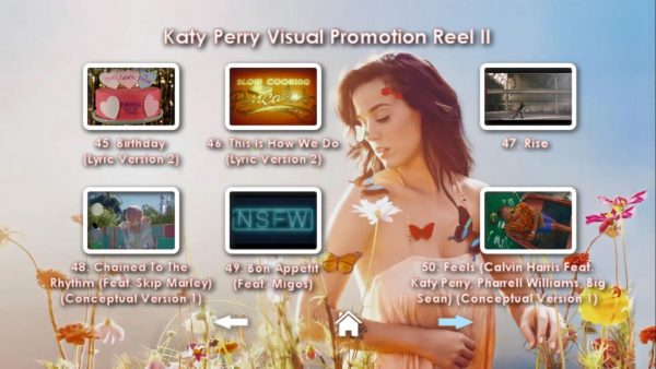 KATY PERRY DVD Reel 2 Menu Page 4