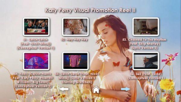 KATY PERRY DVD Reel 2 Menu Page 5