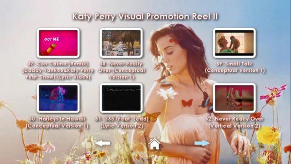 KATY PERRY DVD Reel 2 Menu Page 6