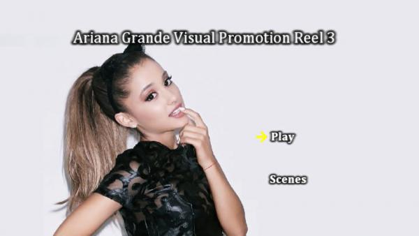 ARIANA GRANDE Music Video Reel 3 DVD Menu Page 1